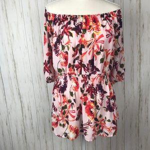Lane Bryant NWT Floral Smocked Waist Blouse 18/20